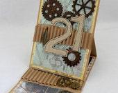 21st Steampunk BIrthday Card