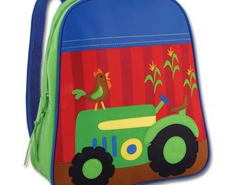 Personalized Stephen Joseph Go Go Tractor Backpack