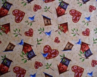 Daisy Kingdom Bluebird Fabric 2 and one third yd x 44 in