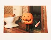 Pumpkin Hygiene Halloween Postcard