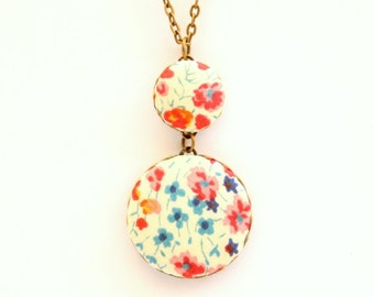 Liberty of London Large Pendant Necklace in Phoebe Fabric