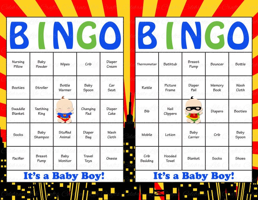 It is a photo of Sly Free Printable Baby Shower Bingo Cards for 30 People