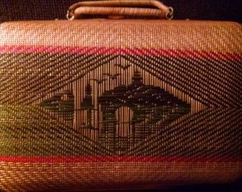 Vintage Woven Wicker Case
