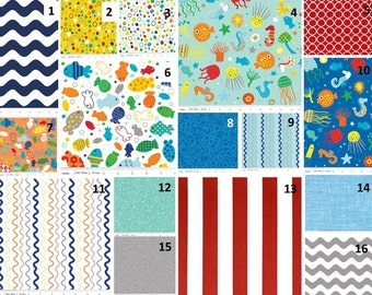 Crib Bedding, In The Ocean - Design Your Custom Bedding Set - Baby Bedding . Nursery Bedding
