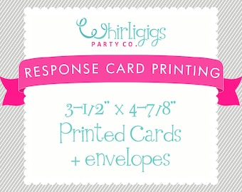 REPLY CARD PRINTING with Envelopes