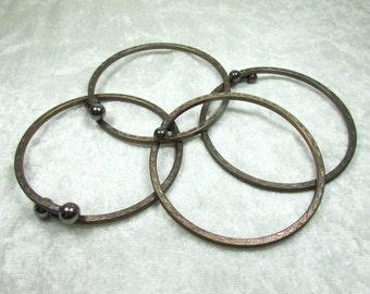 Vintage Brass plated steel bangle bracelet