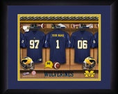 PERSONALIZED & FRAMED Officially Licensed Michigan Wolverines Football Sports Print
