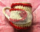 Ready To Ship Valentine Mug cozy