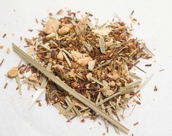 Hand Blended, Made to Order  Organic Ginger Citrus Loose Leaf Herbal Tea