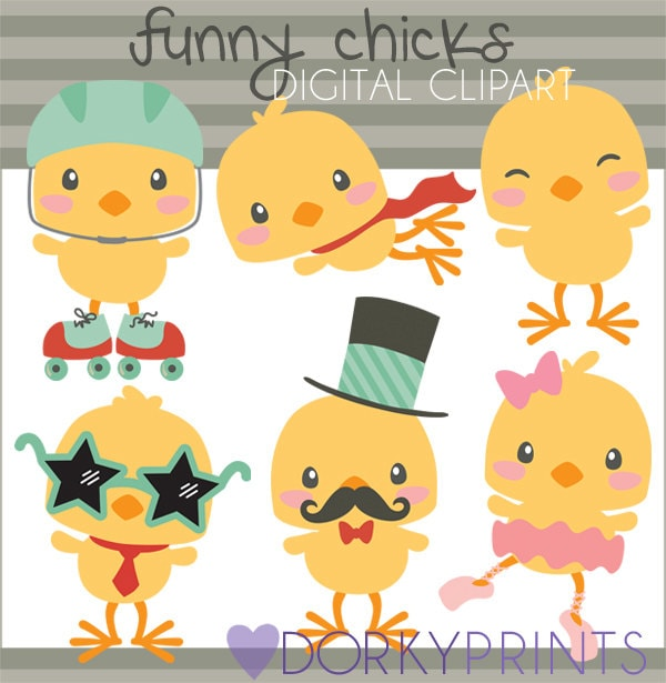 Easter chick clipart | Etsy