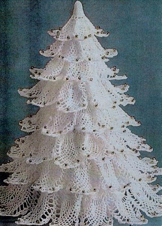 Beautiful Pineapple Christmas Tree Vintage Crochet Pattern
