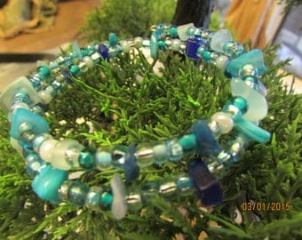 glass beaded bracelet