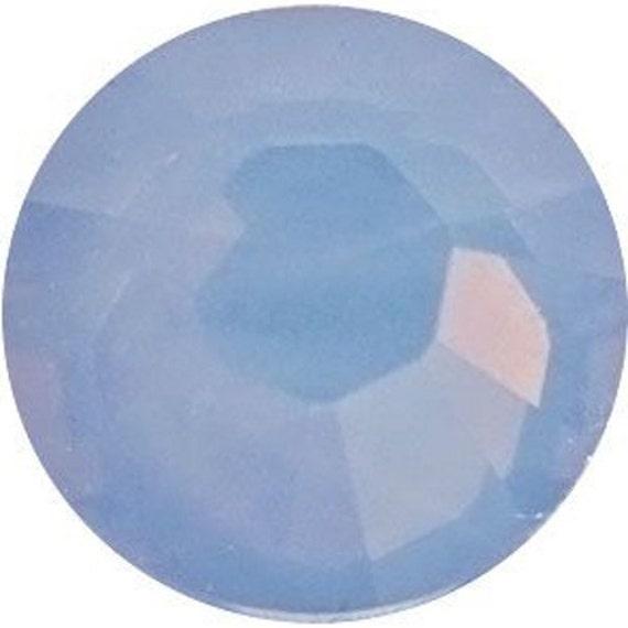 69 pc Swarovski Crystal Flatback Air Blue Opal ss12 3mm gemstones 2028 Hotfix Iron on Bling