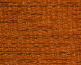 Solid Orange Textured Upholstery Fabric - Modern Pleated Fabric for Roman Shades - Tangerine Home Decor - Orange Home Furnishing Material