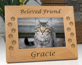 Personalized Cat Photo Frame - Beloved Friend