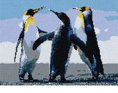 Needlepoint Canvas Kit Penguins by Pepita