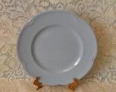 Johnson Bros Greydawn Sandwich Plate Sky Blue 1940's Serving Piece China Plate Service Ware Kitchenware Cottage Chic