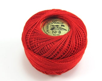 Finca Perle Cotton Thread Pearl Cotton - Red