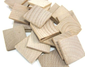 "1"" Unfinished Wooden Square Tiles (25mm)"