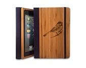 Bird - Bamboo iPad Air Bookcase, Wood iPad Air Case, Wood iPad 5 Bookcase - Primovisto