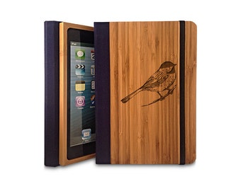 Bird - Bamboo iPad Air Bookcase, Wood iPad Air Case, Wood iPad 5 Bookcase - Primovisto