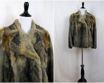 Vintage Coat | 1970s | Genuine Fox Fur Half Coat | Small