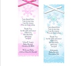 Personalized Snowflake Baby Shower Favor Bookmarks - set of 10  bookmarks, baby shower favor, winter baby shower