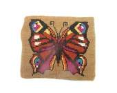Vintage Pillow cover Embroidered pillow cover Handmade Cross stich pillow cover Butterfly pillow cover Colorful Cushion cover Pillow case