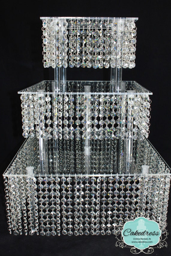 Items Similar To Wedding Cake Stand Bling Cupcake Build A