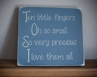 Childrens Room Wooden Sign