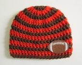 Cleveland Browns Baby, Cleveland Browns Hat, Cleveland Browns Beanie, Baby Football Hat, Football Hat, Newborn Hat, Toddler Hat, Photo Props
