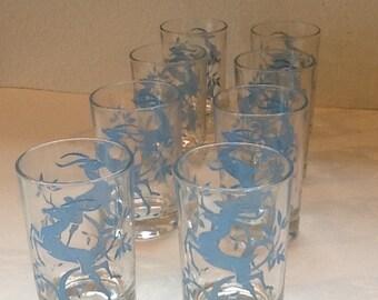 8 Retro Mad Men Gazelle Glasses Juice Glasses Wine Glasses