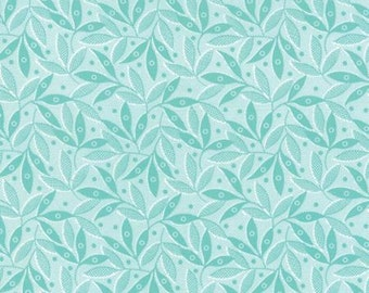 Color Theory Teal Twigs - Moda Fabrics 10834 14 Blue Turqoise