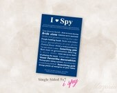I Spy wedding reception photo challenge game YOU PRINT!! navy