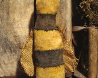 Primitive Folk Art Bee Doll PDF E-Pattern Sweetpeas Primitives