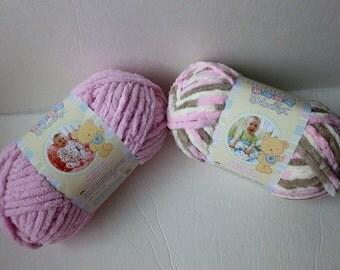 Yarn Sale  - Pink, Little Petunias  Baby Blanket by Bernat