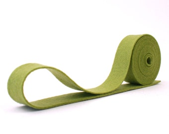"100 Percent Wool Felt Ribbon in color SAGE - 3/4"" X 2 Yards - Merino Wool Felt - Green Ribbon - Sage RIbbon"