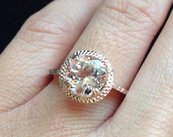 ONLY One Available Rose Gold Morganite Ring
