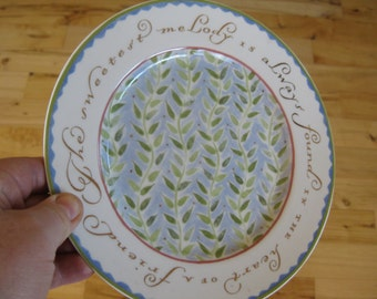 Sweetest Melody Pass It On Collectible Plate Very Good