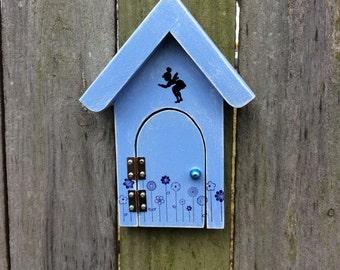 Fairy Door, fairy garden, unique, housewarming gift, birthday gift, Handmade, Garden, Gift, Blue, Girls, Wholesale,