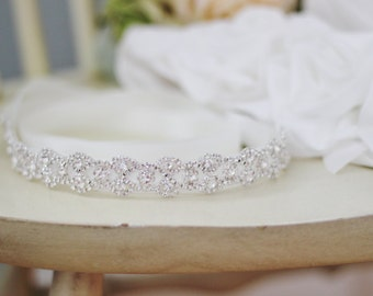 Bridal Rhinestone Wedding Gown Sash Belt