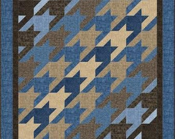 Hounds-tooth Made Easy quilt pattern baby/ lap, large lap, twin & queen