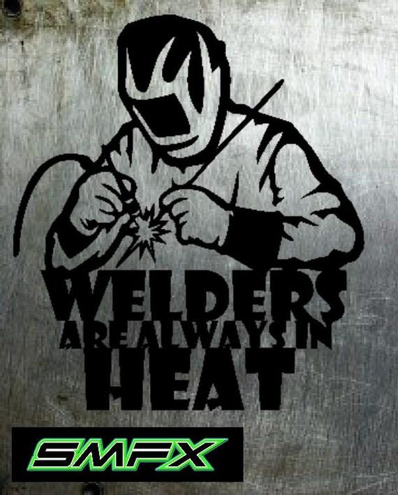 welder metal sign