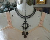 Assemblage Choker Necklace Vintage Miraculous Mary Medals