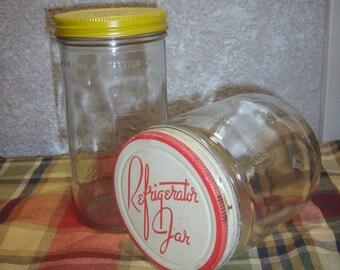 Hazel Atlas & Ball Refrigerator Jars 1940's