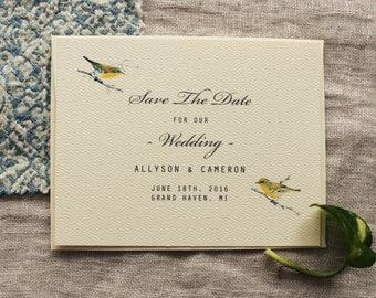 Bird Save The Date Bird Wedding Invitation Collection