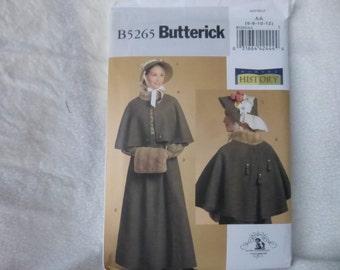 Butterick 5265: Victorian Winter Skirt, capelet, hat and muff