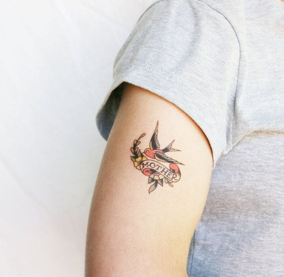Mother's Day temporary tattoo, Mother Daughter Temporary Tattoo, mum tattoo, mother fake tattoo - temporary tattoo