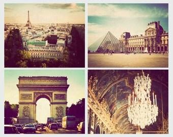 Paris photographs, discounted set, print set, Paris pictures, set of 4, Paris art, Paris decor, Paris print set