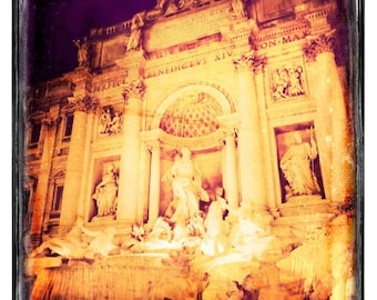 Trevi Fountain - Rome photograph, fine art photo, travel photography, Italy decor, retro photography, Europe art